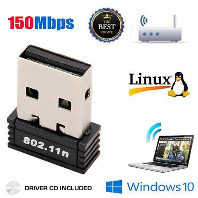 Mini USB WiFi WLAN 150Mbps Wireless Network Adapter 802.11n/g/b Dongle US NEW