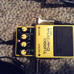 1987 Boss OD-2 Turbo Overdrive MIJ pedal for sale, 60$