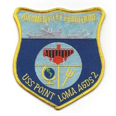 US NAVY ship USS Point Loma AGDS-2 patch Auimento Et Erudizione MILITARY PATCH