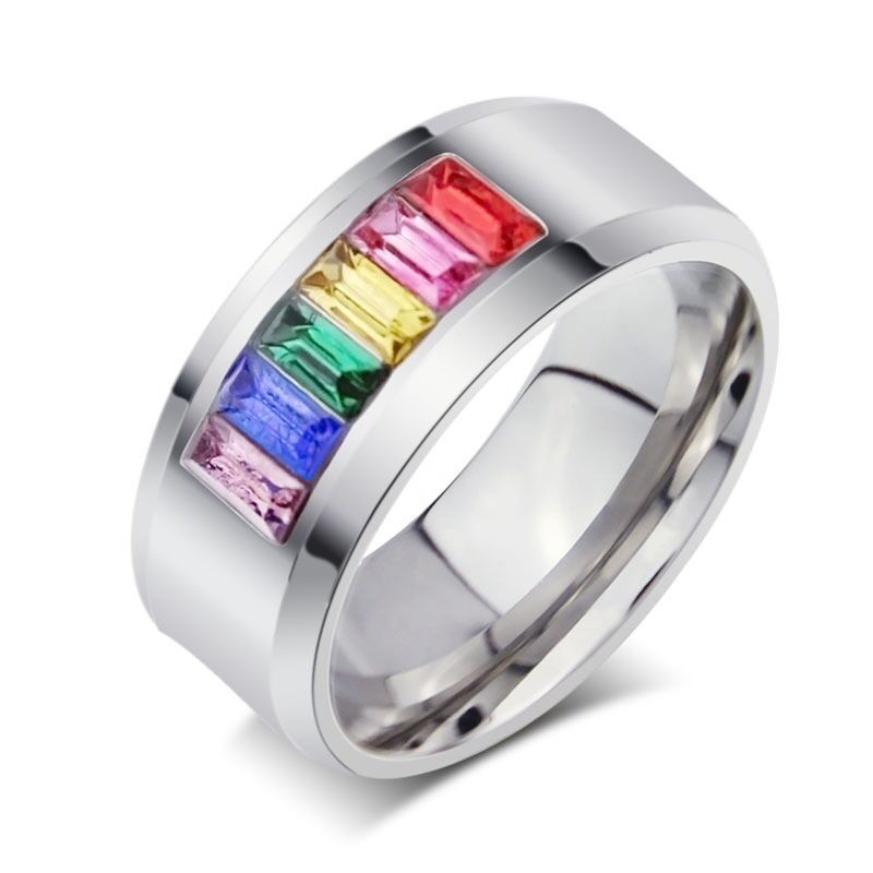 Fashion Man Women Stainless Steel Couple Wedding Finger Ring Jewelry Size 17-21