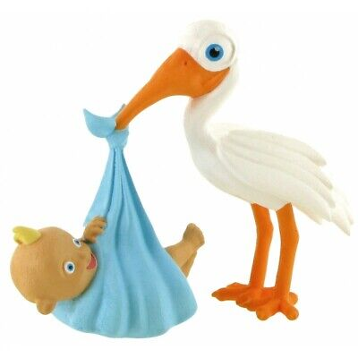 Official Comansi Newborn Baby Boy Shower Stork Toy Figure Cake Topper Toppers - Finding Nemo Baby Shower Cake