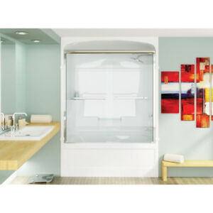 Mirolin BD50 Bypass Shower Door Plain Silver