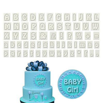 Alphabet Letter Plastic Cake Fondant Cookie Cutter DIY Decor Birthday Mold