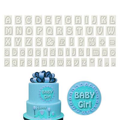 Alphabet Letter Plastic Cake Fondant Cookie Cutter DIY Decor Birthday - Alphabet Cookie Cutters