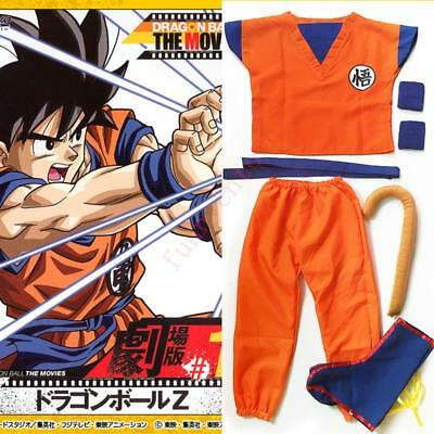 Dragonball Kids Dragon Ball Z Son Goku Logo Cosplay Costume Suit Halloween Dress - Goku Costume Kids