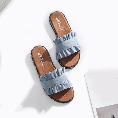 682037f92e2eb Korea Style Womens Ladies Flats Slip On Comfy Flip Flops Slider Slippers  Sandals