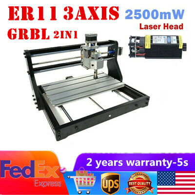 Cnc Diy 3018pro Laser Engraver Pcb Wood Milling Machine Router With Grbl Control
