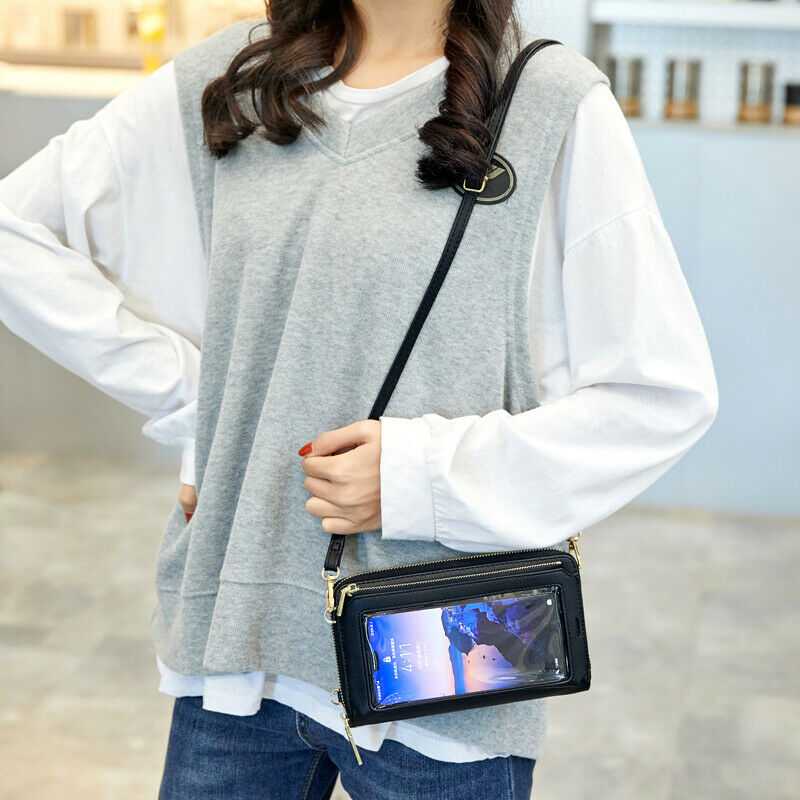 Womens Small Crossbody Bag Shoulder Purse Touch Screen Cellphone Wallet Handbag Clothing, Shoes & Accessories