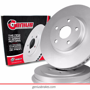 2010 Nissan Murano front coated brake rotor & ceramic pads