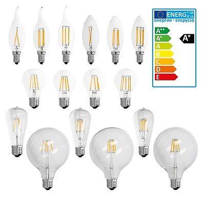 E14 E27 2W/4W/6W/8W/10W LED LAMPE KERZE VINTAGE BIRNE WINDSTOß FILAMENT KOLBEN online kaufen