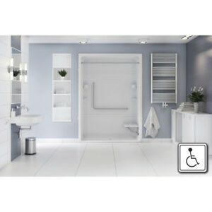 Mirolin AROS66L/R Access 66 With Seat SS Grab Bars OBC