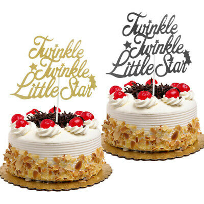Cake Toppers Flags Glitter Twinkle Twinkle Little Star Cupcake Topper Baking Diy