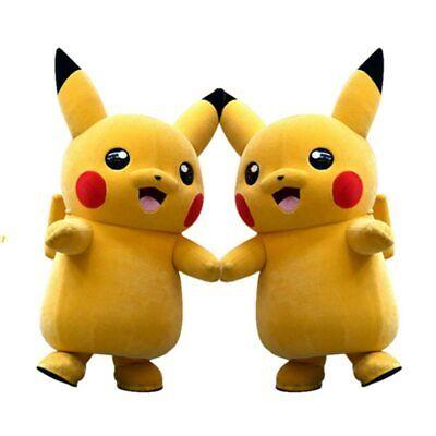 Pikachu Pokemon Mascot Costume Fancy Dress Outfit Unisex cartoon Apparel Cosplay