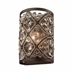 Qty2 Elk Lighting 11584/1 Antique Bronze Amherst Bathroom Sconce