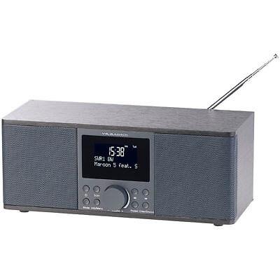 DAB Radios: Digitales DAB+/FM-Stereo-Radio, Bluetooth & Wecker, 30 Watt,
