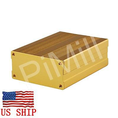 Aluminum Project Box Enclosure Case Electronic Diy 100x76x35mm Gold Us Stock