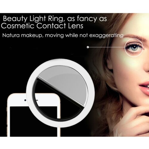 Selfie Portable LED Ring Fill Light Camera Photography for iPhone Android Phone