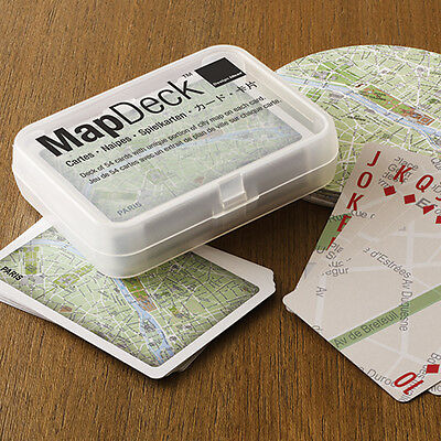 MapDeck Map Playing Cards in Box Poker Party Game Gift Paris City Design Ideas - Party City Gift Boxes