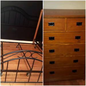 King Size Bed Frame and Dresser