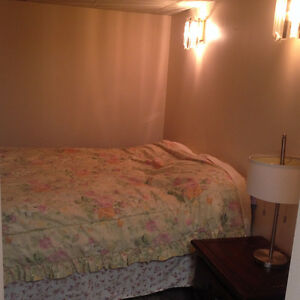 FURNISHED ONE-BEDROOM BASEMENT SUITE $600/MONTH