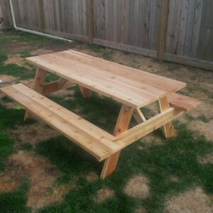 Cedar Picnic Table Kits - 3ft to 10ft sizes West Island Greater Montréal image 7