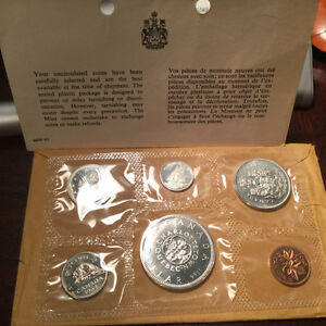 1964 Canada Uncirculated Silver PROOF- LIKE set coins