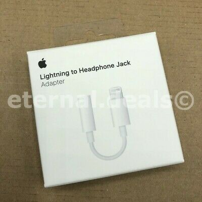 Genuine Apple Lightning to 3.5mm Headphone Jack Adapter iPhone 7/8/X/XR/XS/11/SE