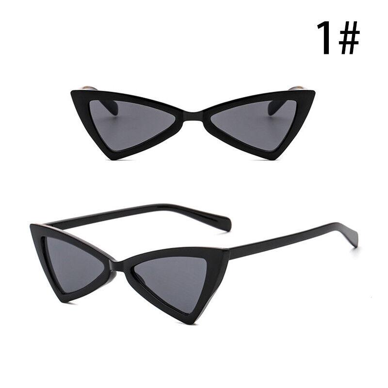Vintage Triangle Sunglasses Women Fashion AntiUV Glasses Retro Cat Eye Eyewear