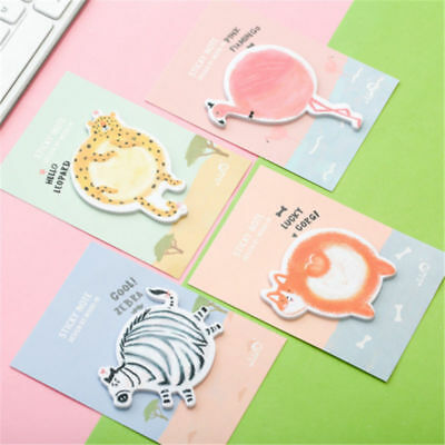 30 Pages Cute Cartoon Animals Sticker Bookmark Marker Flags Sticky Notes
