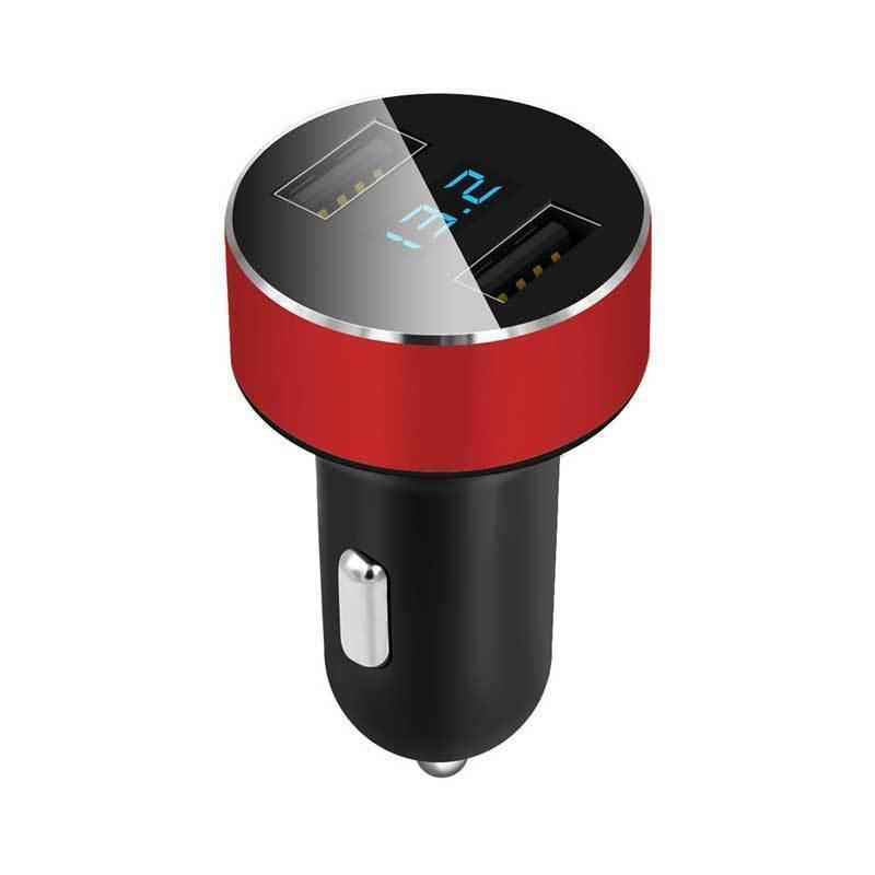 Car Charger 5V/3.1A Dual USB 2Port LED Display Cigarette Socket Lighter Adapter