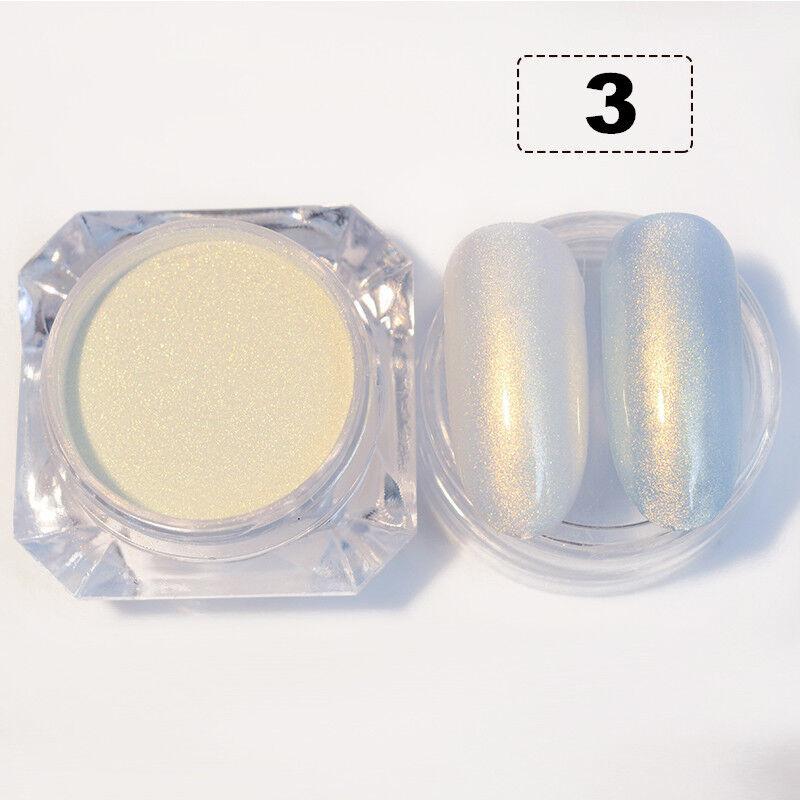 BORN PRETTY Nail Glitter Powder Pearl Mermaid Holographic Mirror Nail Art Dust