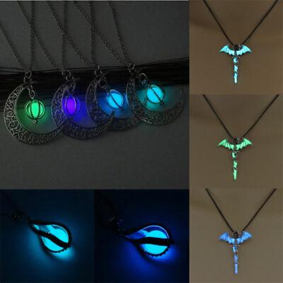 Halloween Gifts For Men (Halloween Women Men Necklace Glow Shine Choker Pendant Drop Dangle jewelry)