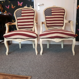 2 KING LOUIS STYLE CHAIRS