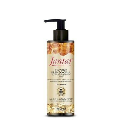 Farmona JANTAR DNA Nourishing Body Cream with Amber Essence & Gold 200ml - Amber Body Cream
