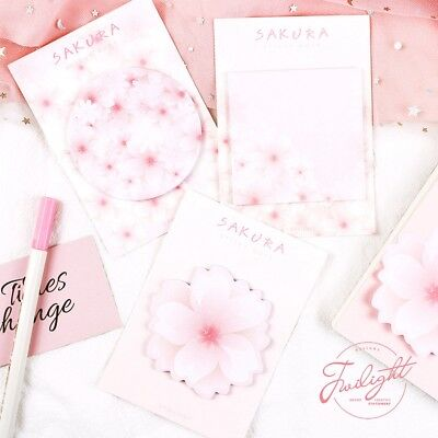 Pink Sakura Memo Pad Paper Sticky Notes Notepad Planner Japanese School Supplies