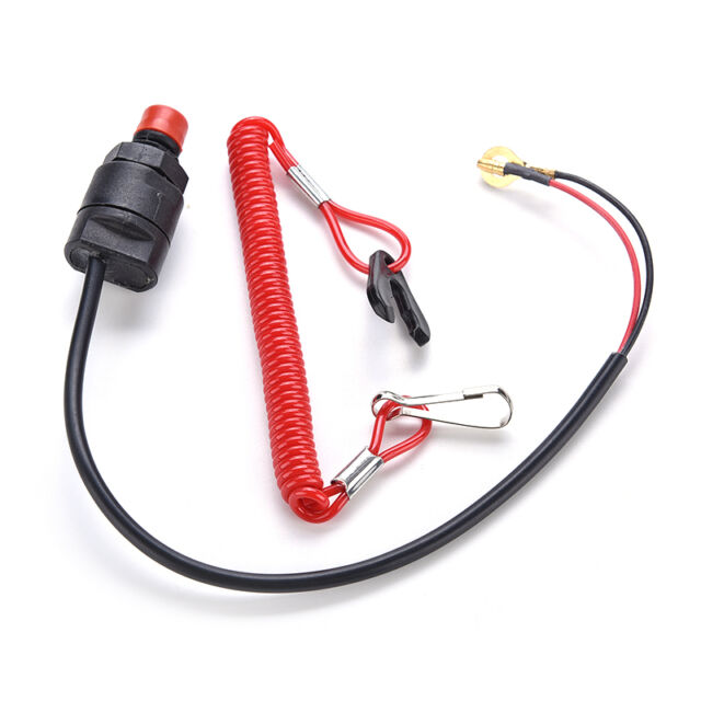 Stop Switch & Safety Tether Lanyard Universal Boat Outboard Engine Motor Kill
