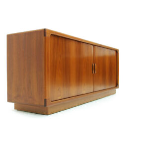 Danish Teak Sideboard with Tambour Doors Made by Dyrlund