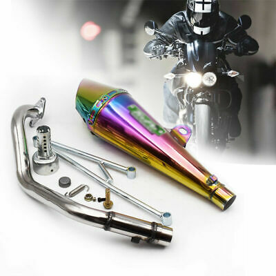Motorcycle Stainless Exhaust Baffle Tail Pipe Silencer For GY6125 Yamaha 100cc