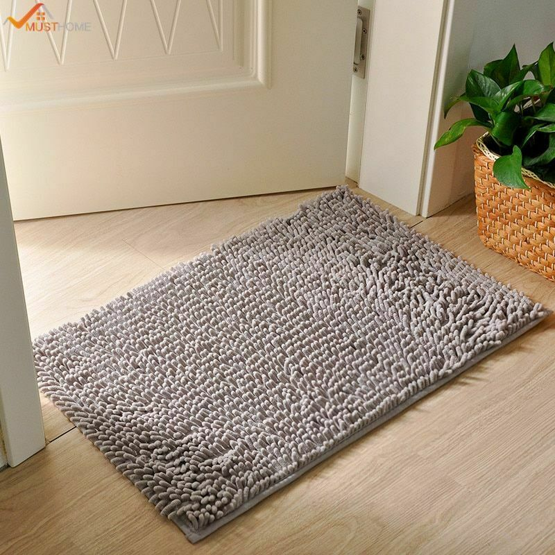 Super Soft Microfiber Bathroom Rugs Non Slip Shag Bath Mat F