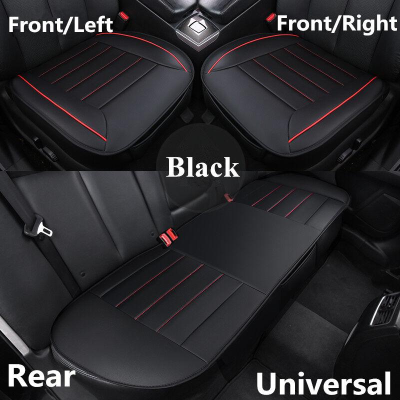 Universal Black+White PU Leather Auto Car Back Seat Cover Rear Seat Cushion Mat