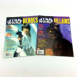 2 Star Wars Poster Magazines 20th Anniversary Heroes & Villains