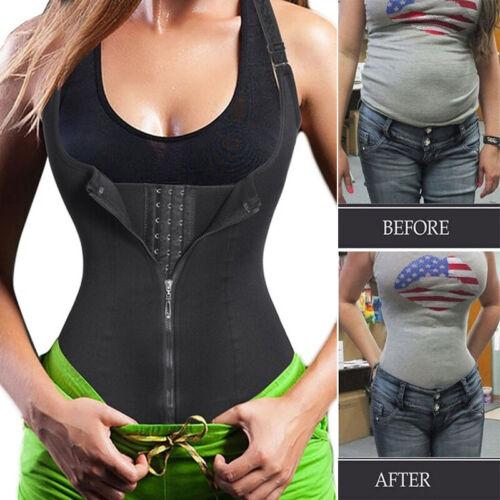Lilvigor Women Waist Trainer Corset Trimmer Belt Body Shaper Cincher Neoprene Sport Girdle with Zipper