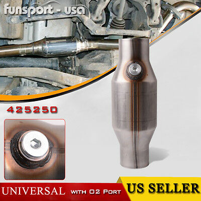 "425250 2.5"" Universal Stainless High Flow Spun Catalytic Converter"