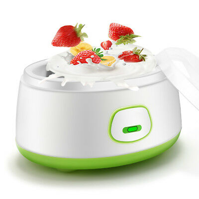 Stainless Steel Electronic Automatic Yogurt Maker Container Machine Diy 220V 1L