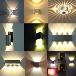 led applique murale ampoule 3w 6w 8w d coration pour couloir galerie maison bar ebay. Black Bedroom Furniture Sets. Home Design Ideas