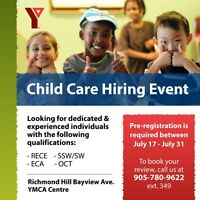Child Care Hiring Event!! July 17 - July 31, 2017