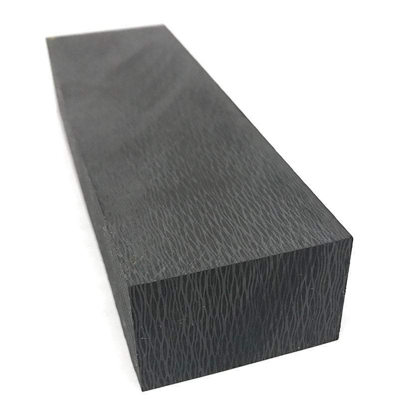 "Carbon Fiber Knife Block- Cross Cut ""Zebra Waves"" 1"" x 1.6"" x 5"" CarbonWavesCF3"