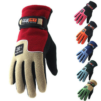 Winter Thermal Warm Fleece Lined Gloves Men Womens Mechanics Wear Work Driving