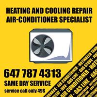Same day furnace repair certified tech.