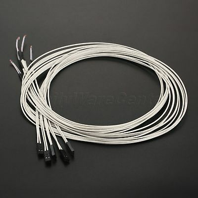 5pcs Reprap Ntc 3950 Wired Thermistor With 1 Meter Wire For 3d Printer Parts